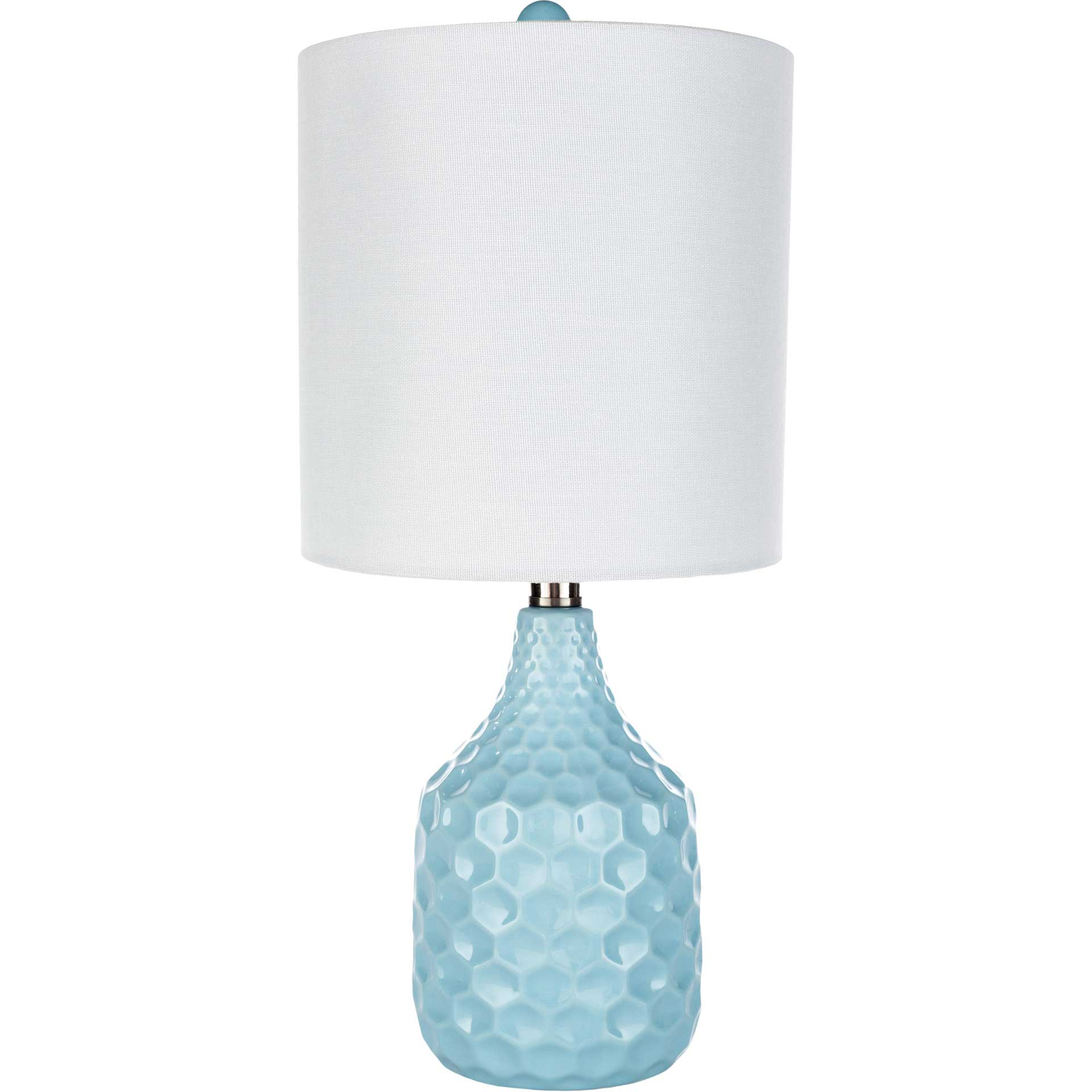 Blaze Table Lamp Aqua/White/Pale Aqua