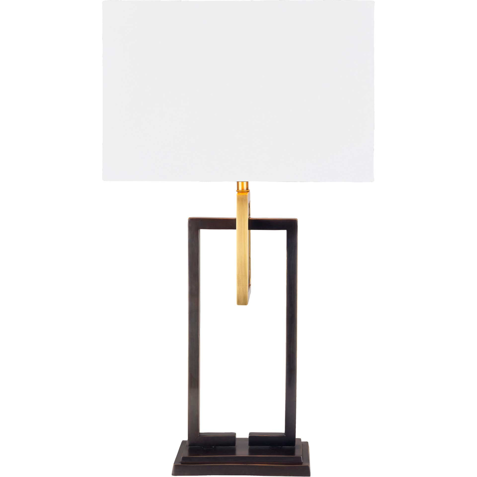 Blessing Table Lamp White/Bronze