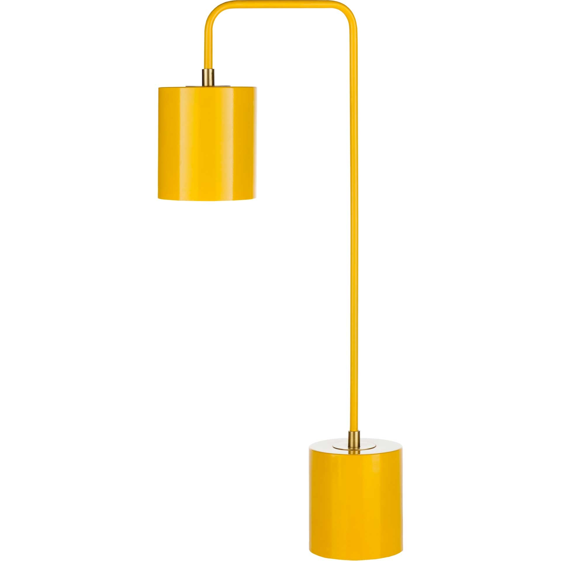 Bobby Table Lamp Bright Yellow/Yellow/Brass