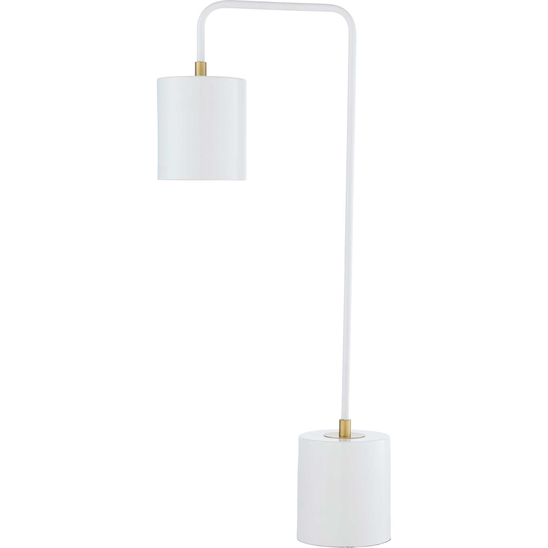 Bobby Table Lamp White/Brass