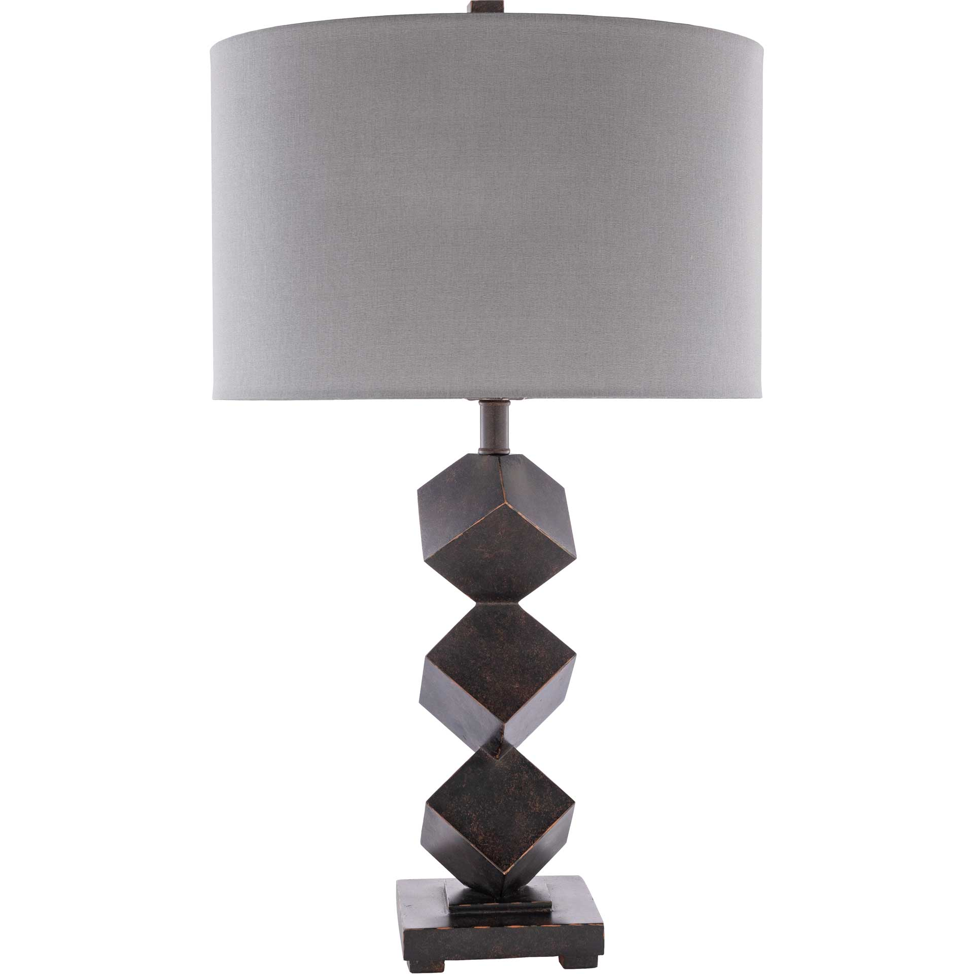 Baker Table Lamp Charcoal/Dark Brown/White