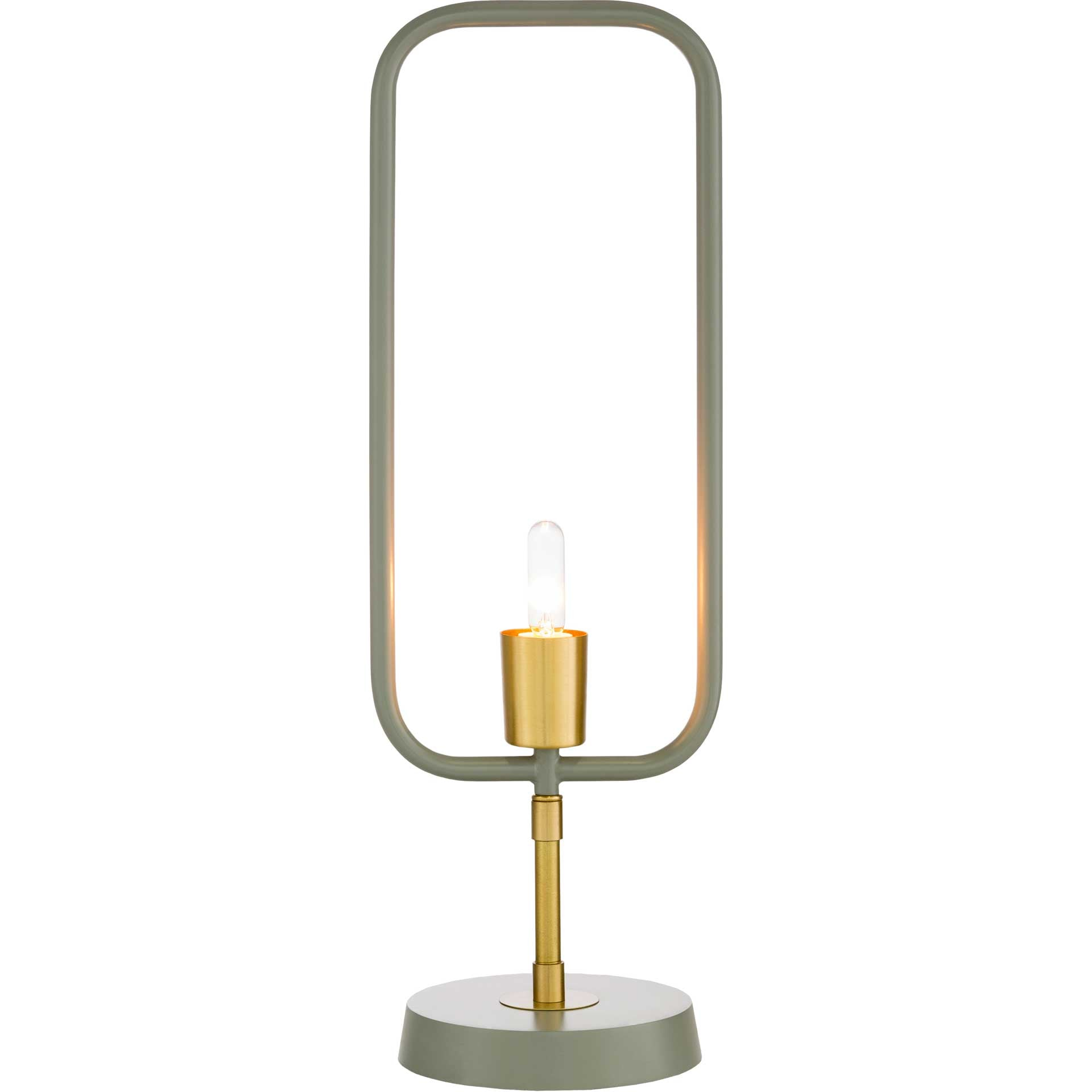Bodhi Table Lamp Medium Gray/Brass/Gray