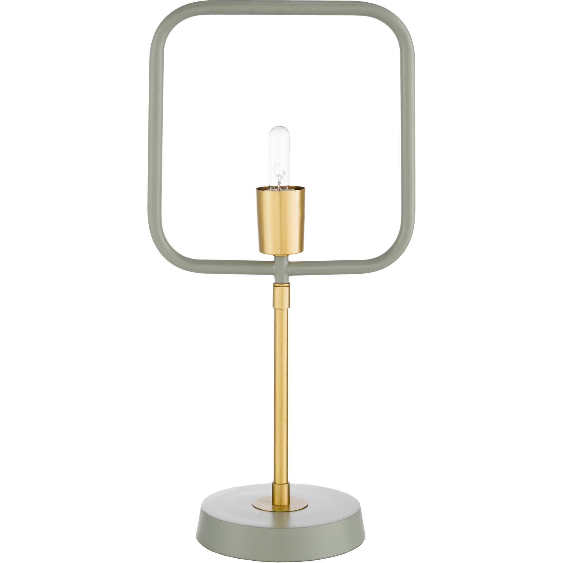 Bodhi Table Lamp Medium Gray/Gray/Brass