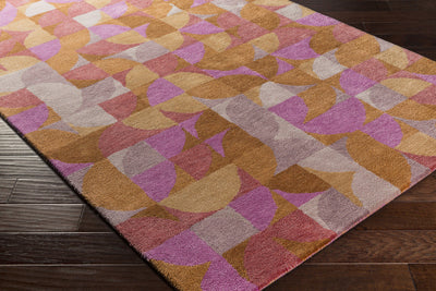 Brilliance Magenta/Tan/Mauve Area Rug