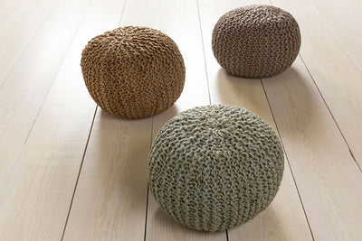 Bermuda Solid Neutral Sphere Pouf