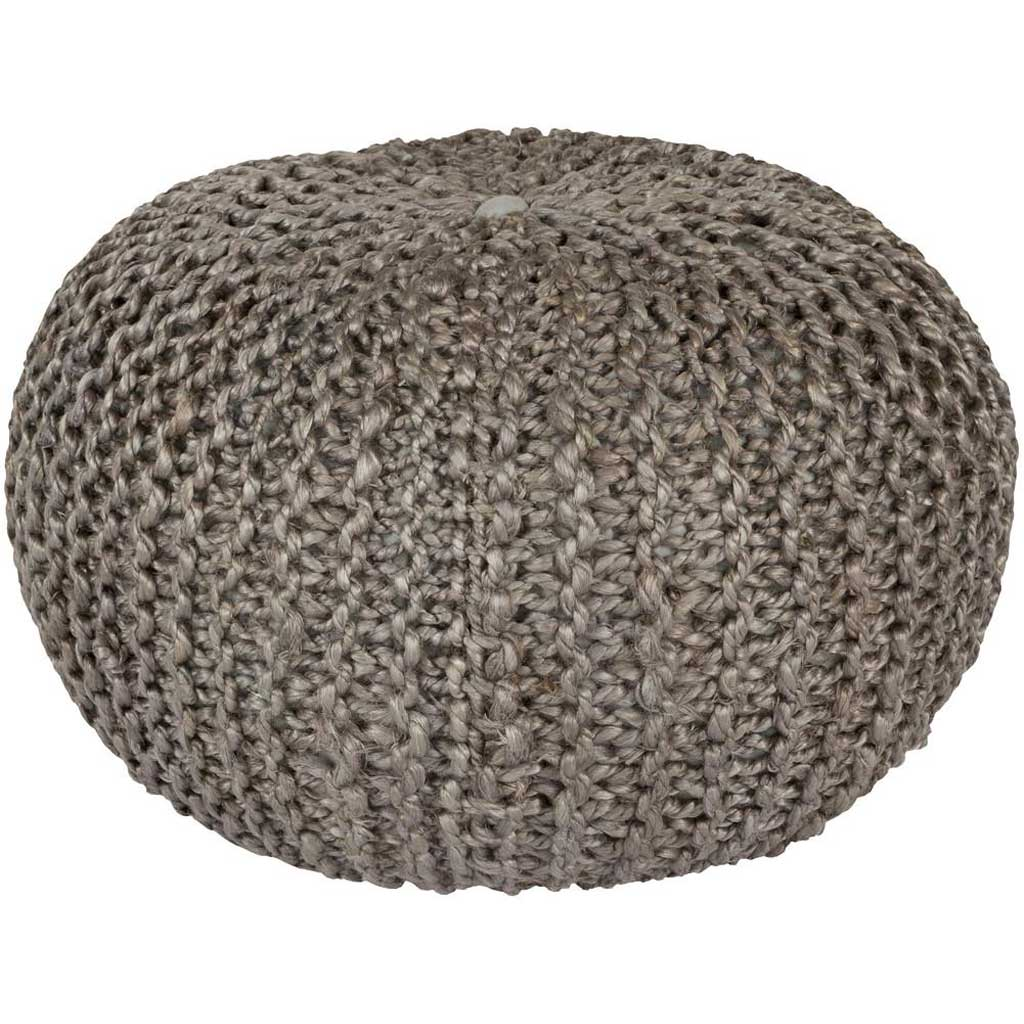 Bermuda Solid Gray Sphere Pouf