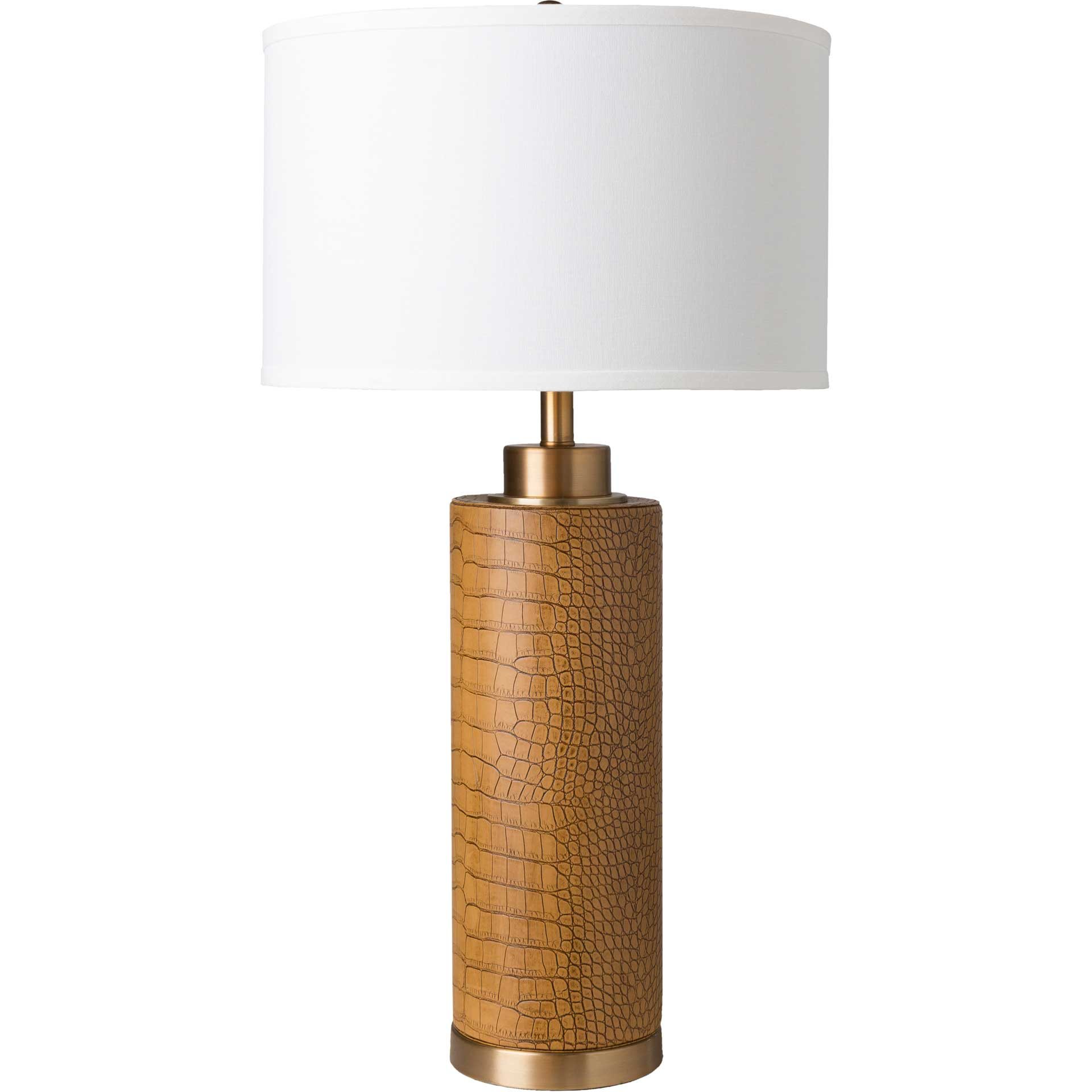 Bruce Table Lamp Tan/White/Camel