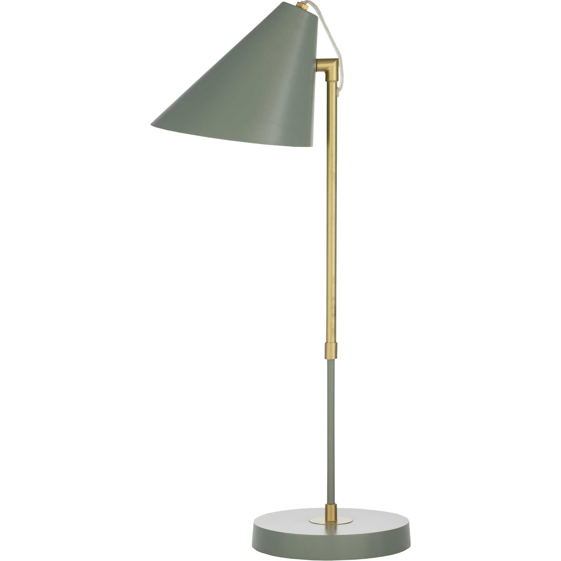 Benson Table Lamp Medium Gray/Gray/Brass