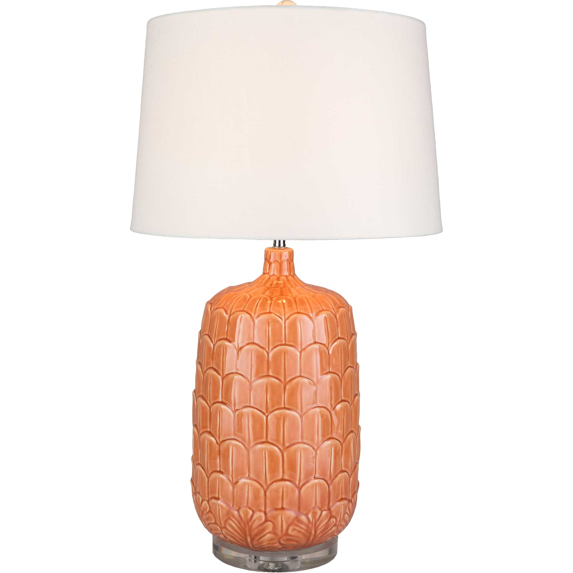 Brian Table Lamp Bright Orange/White/Coral