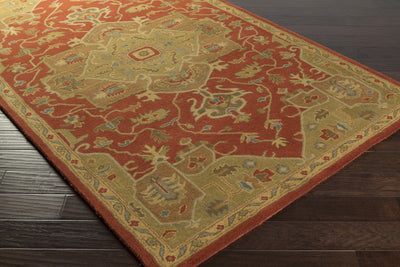 Caesar Burgundy/Gold Area Rug