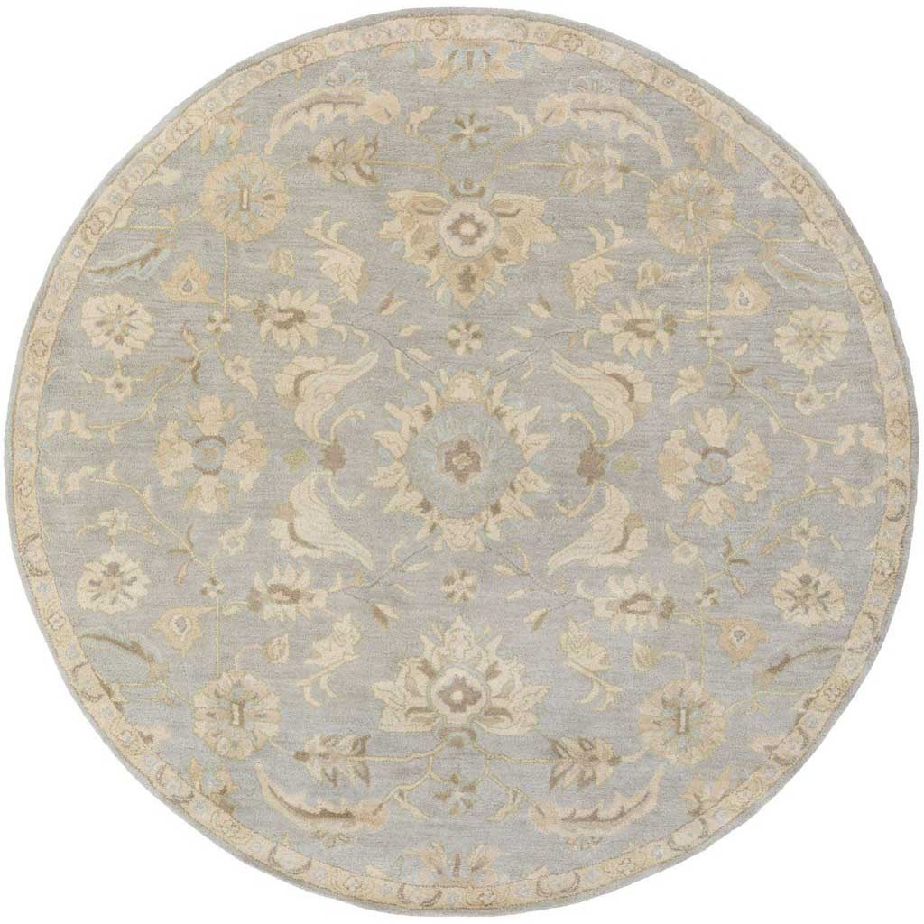 Caesar Slate/Light Gray Round Rug