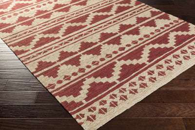 Columbia Burgundy/Beige Area Rug
