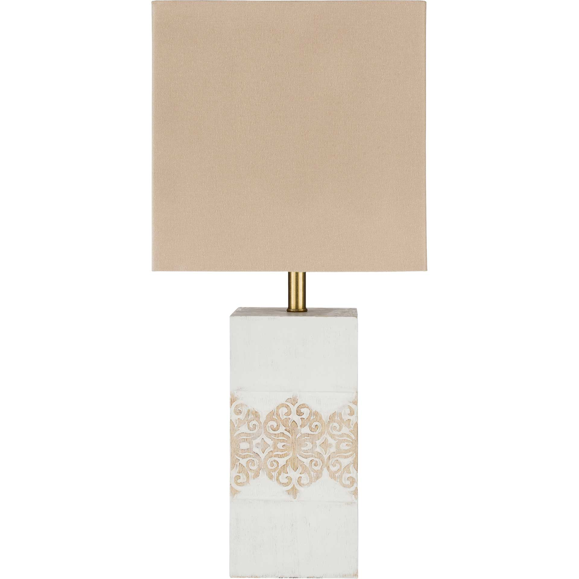 Cristian Table Lamp Taupe/White