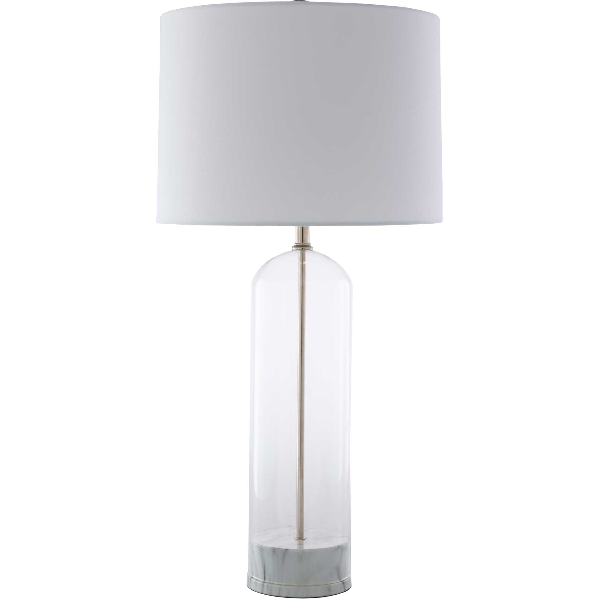 Carlos Table Lamp White/Light Gray
