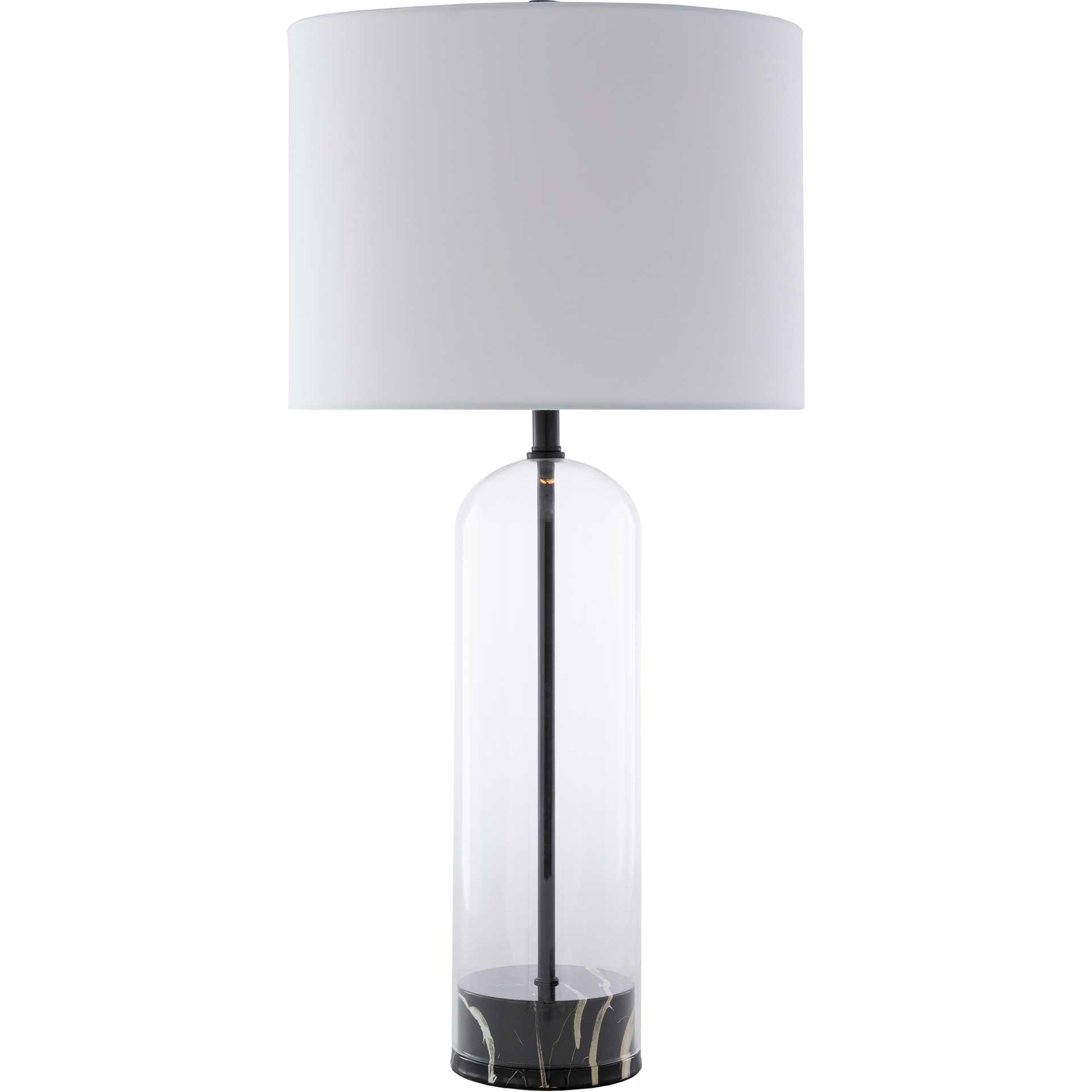 Carlos Table Lamp White/Black