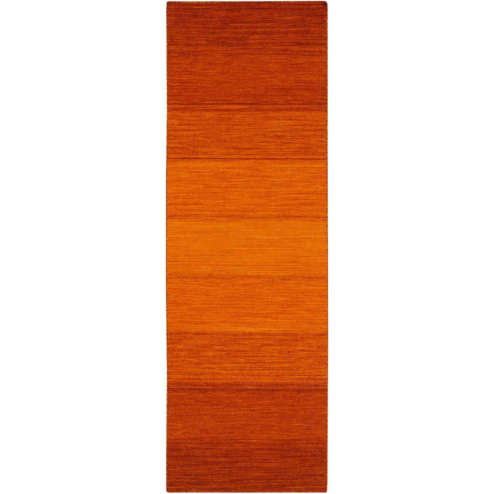 Chaz Tangerine/Burnt Orange Runner Rug