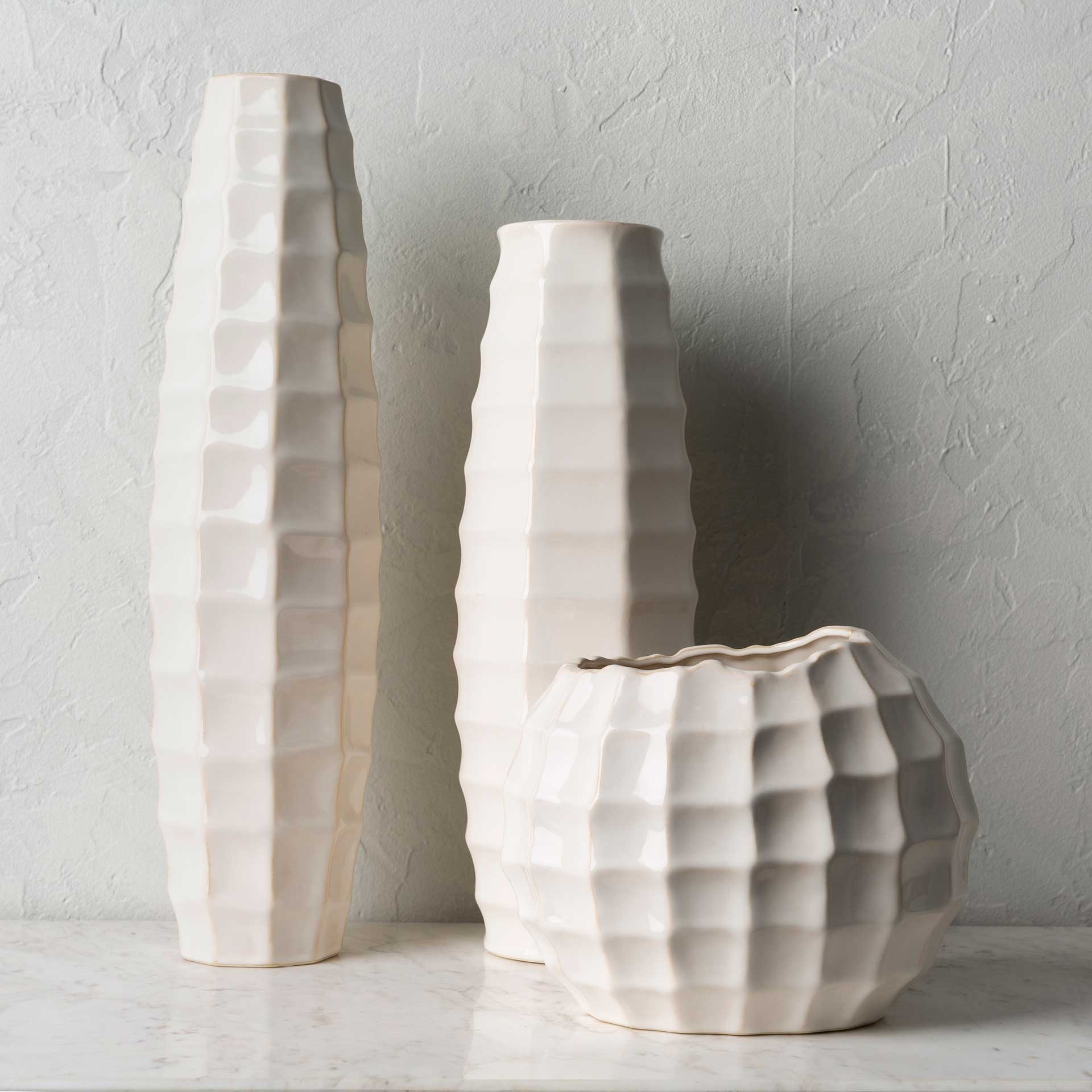 Cillian Vase Cream