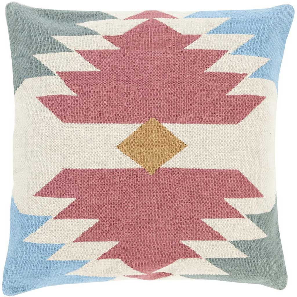 Taken with Tribal Burgundy/Beige Pillow
