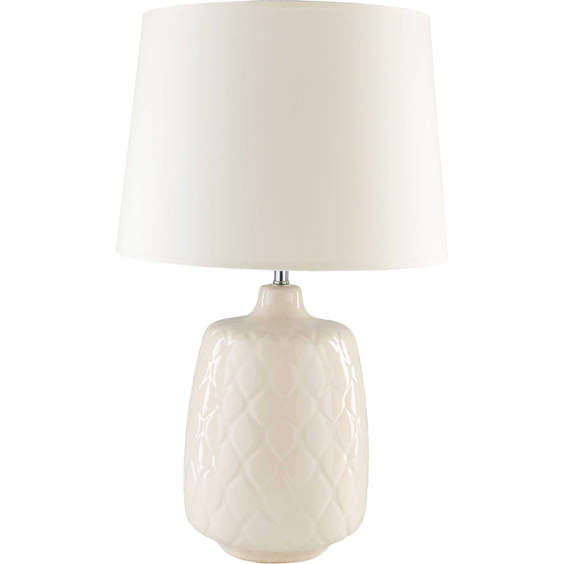 Claire Table Lamp Khaki/Cream