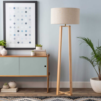 Cairo Floor Lamp Ivory/Natural/Off-White