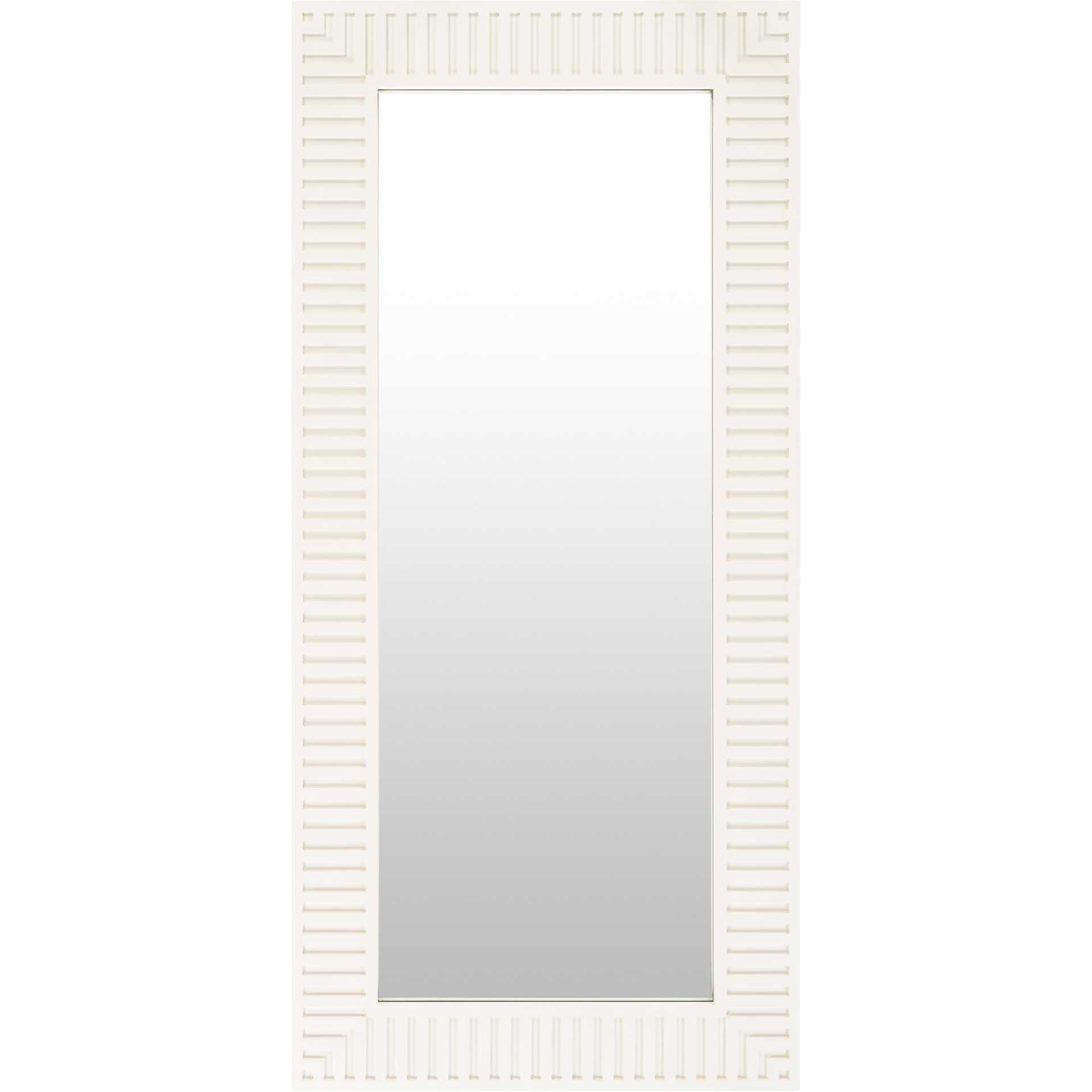 Cole Mirror Ivory/White