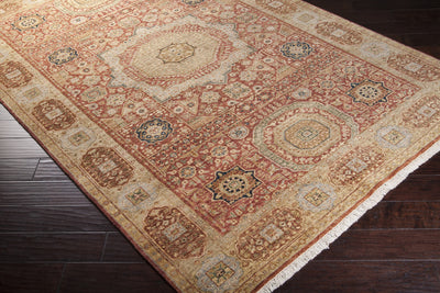 Cambridge Rust/Beige Area Rug