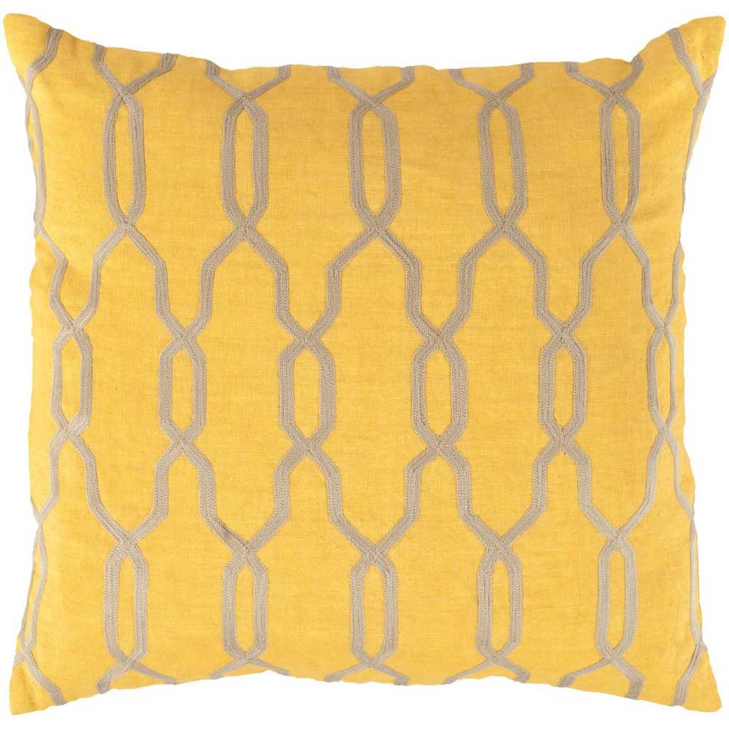 Glamorous Geometric Sunflower/Beige Pillow