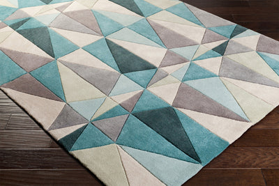 Cosmopolitan Teal/Taupe Area Rug