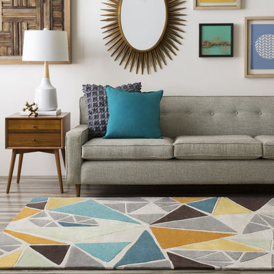 Cosmopolitan Gray/Gold Area Rug