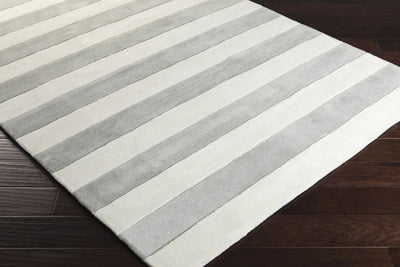 Cosmopolitan Ivory/Light Gray Area Rug