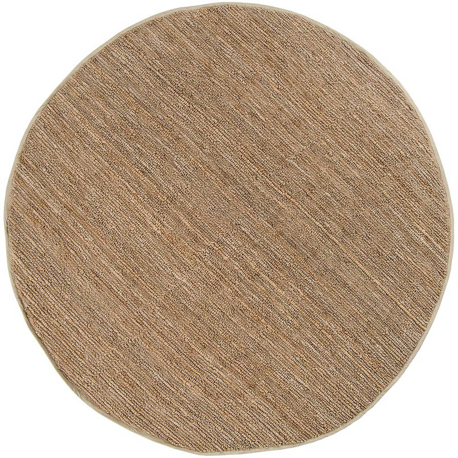 Continental Taupe Round Rug