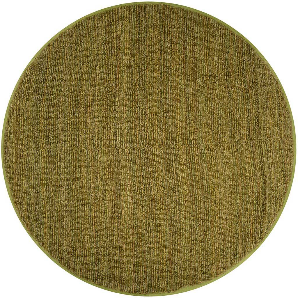 Continental Olive Round Rug