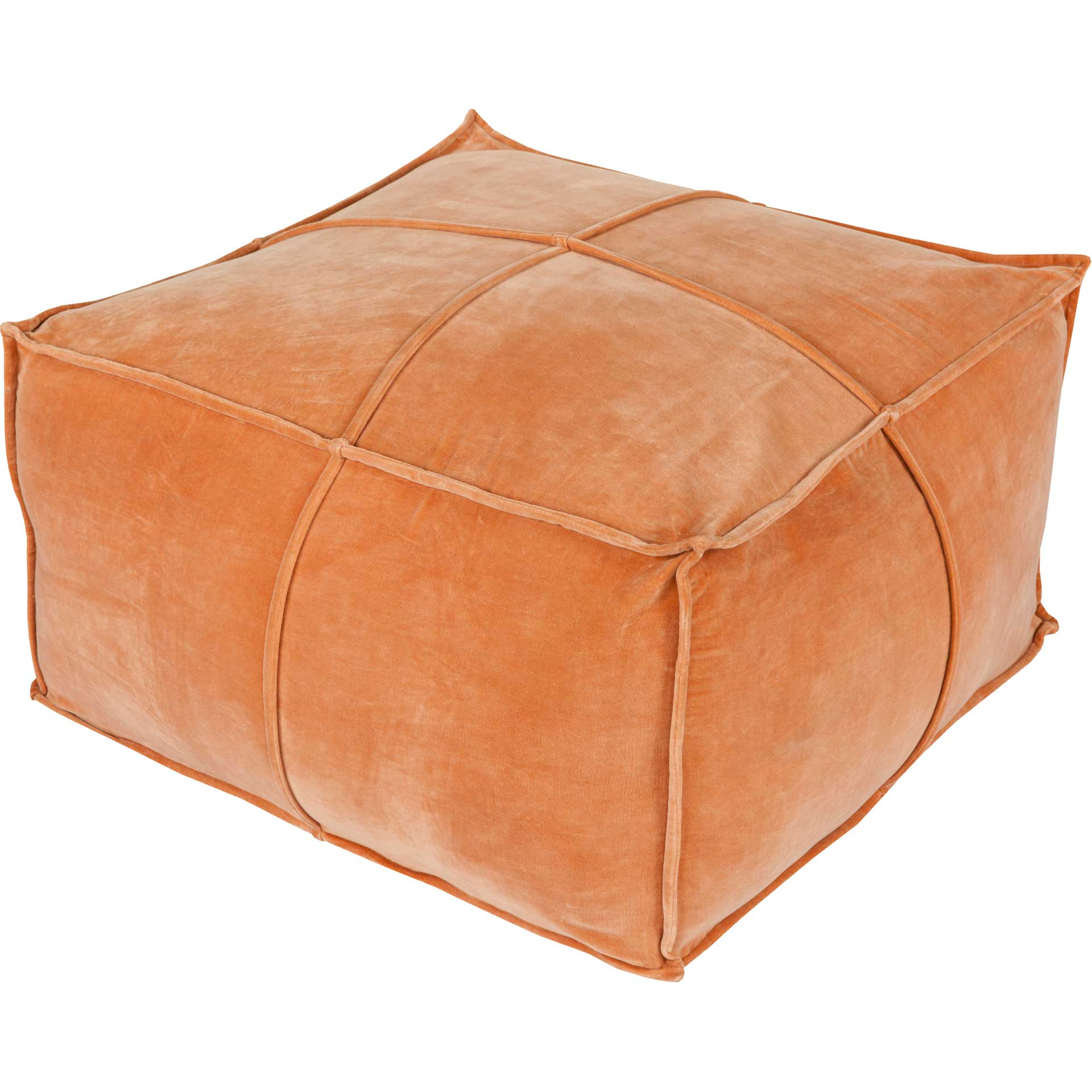 Conner Pouf Burnt Orange