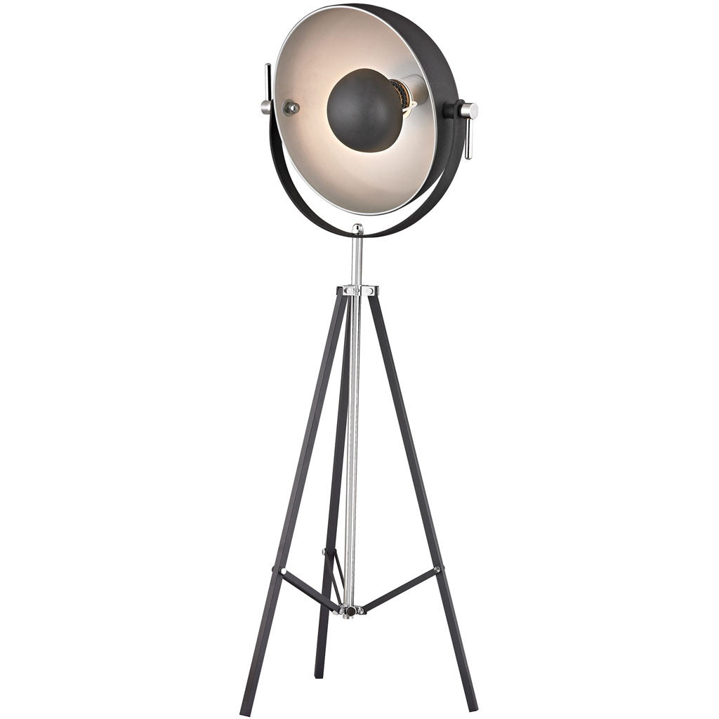 Director Adjustable Floor Lamp Black/Nickel