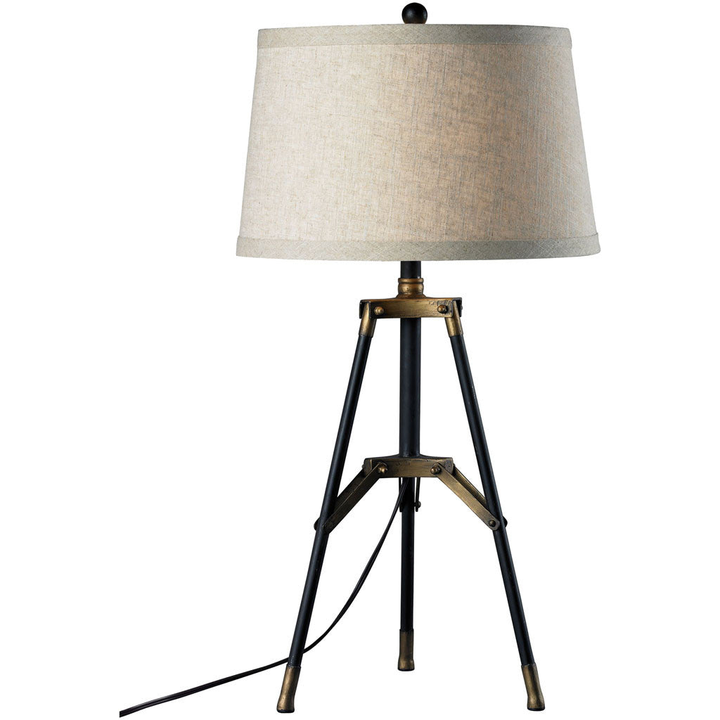 Langley Tripod Table Lamp Black/Gold