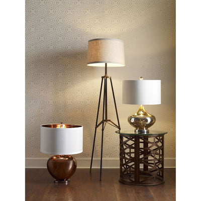 Langley Tripod Floor Lamp Black/Gold