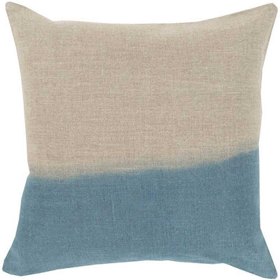 Dip Dyed Light Gray/Teal Pillow