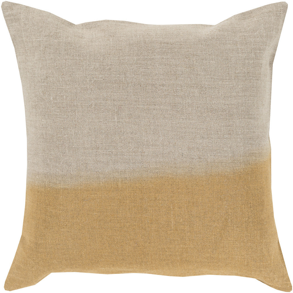 Dip Dyed Light Gray/Gold Pillow