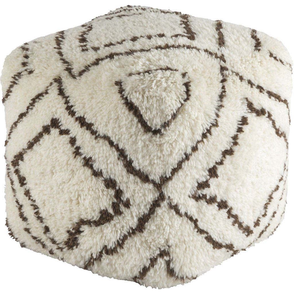 Denali Cube Dark Brown/Khaki Pouf