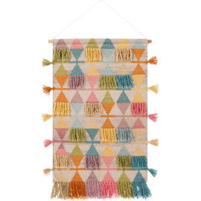 Abel Wall Hanging Bright Yellow/Beige/Wheat