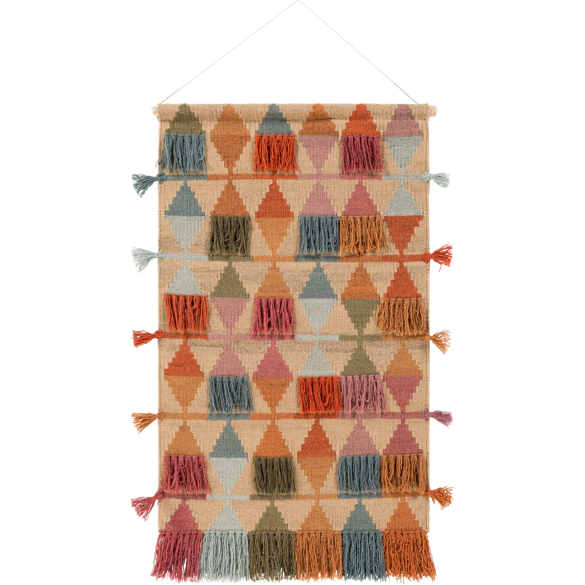 Abel Wall Hanging Khaki/Brick/Rose
