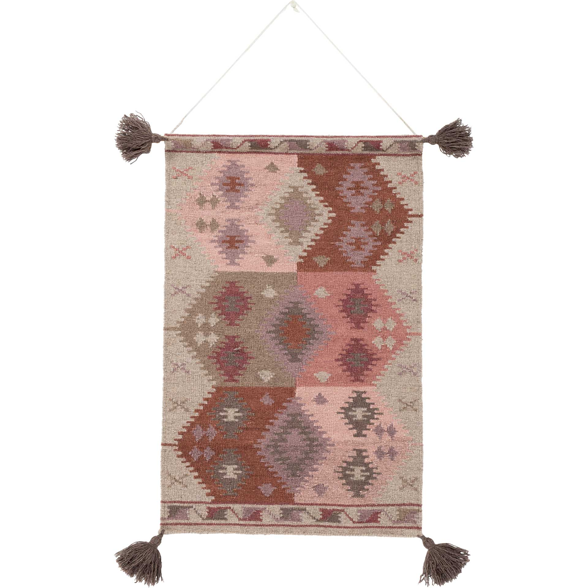 Abel Wall Hanging Taupe/Beige/Eggplant