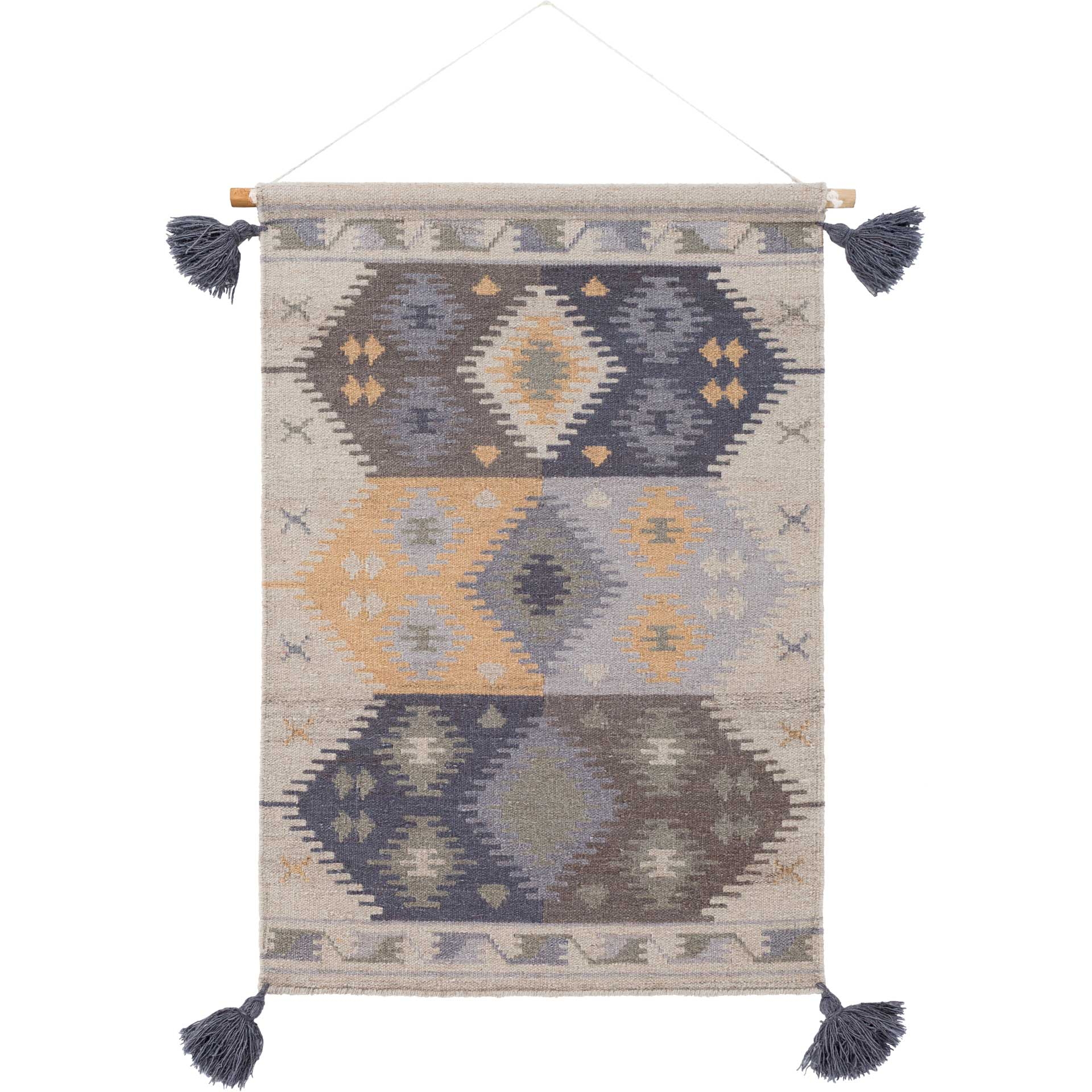 Abel Wall Hanging Wheat/Beige/Navy
