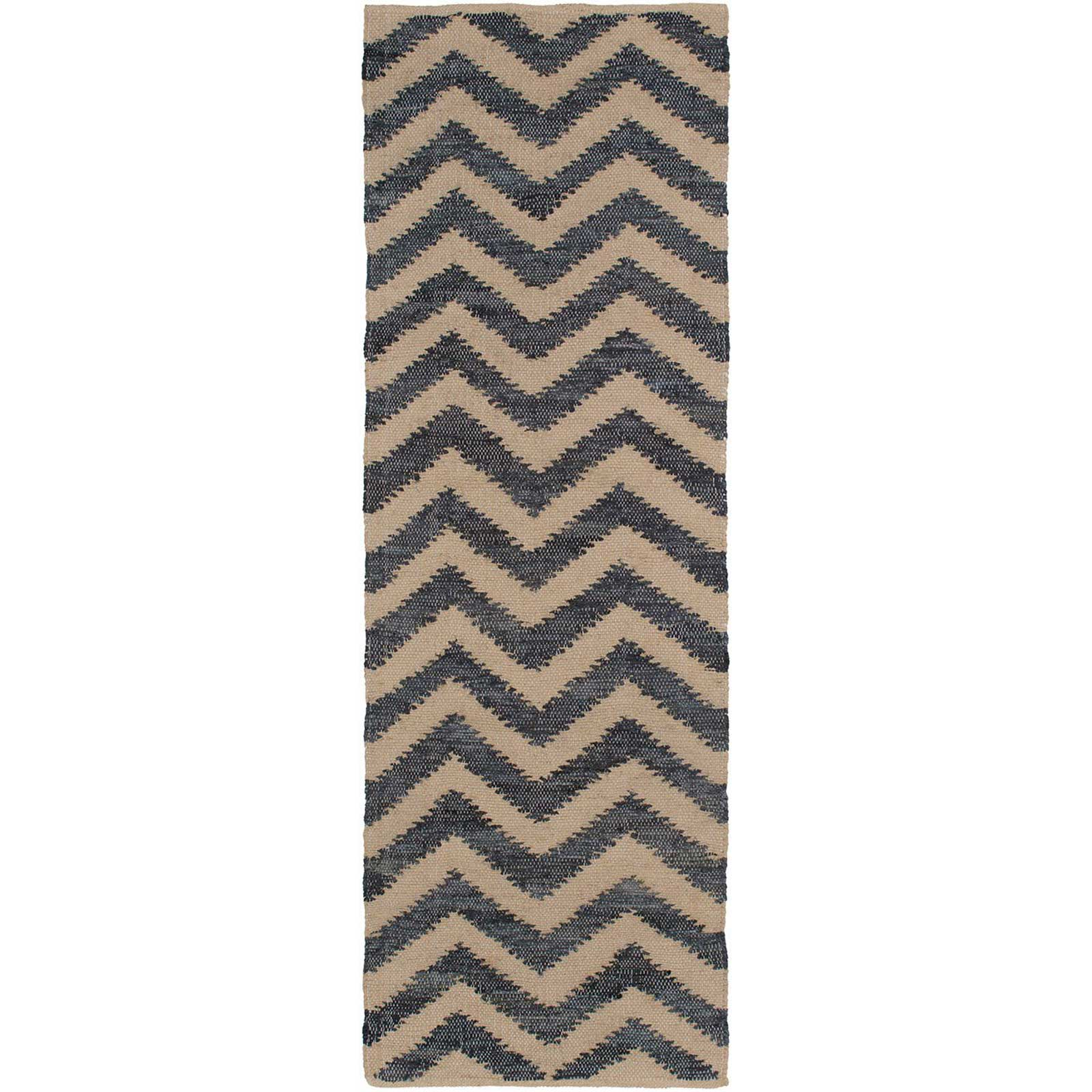 Denim Navy/Ivory Runner Rug