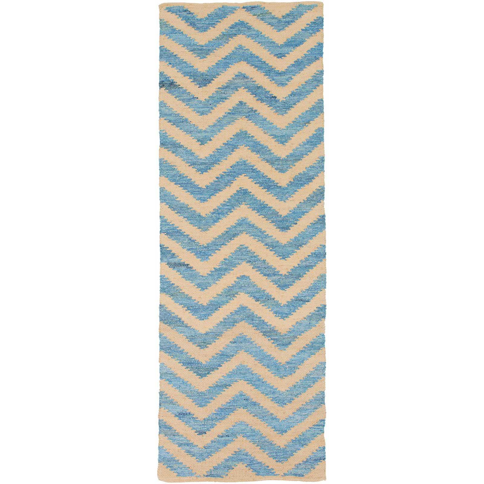 Denim Slate/Beige Runner Rug