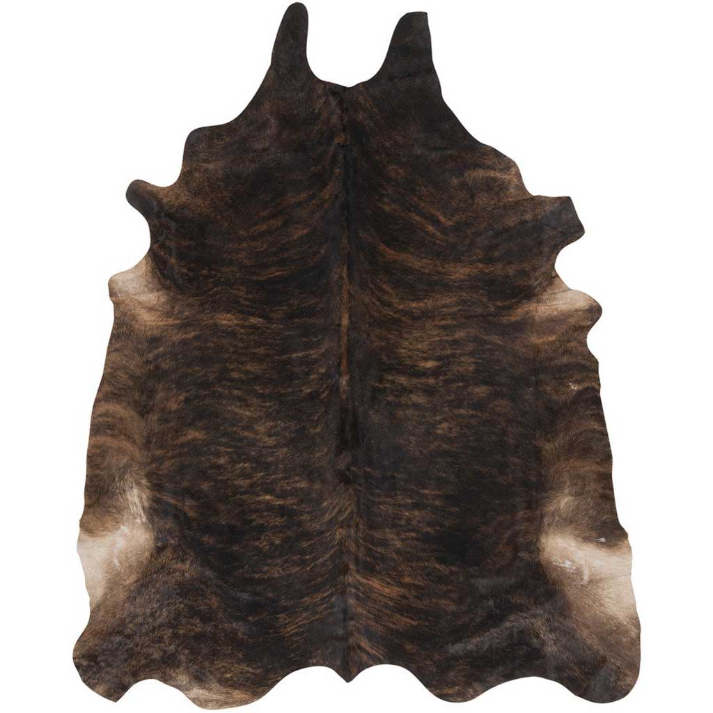 Duke Mocha/Black Cowhide Rug