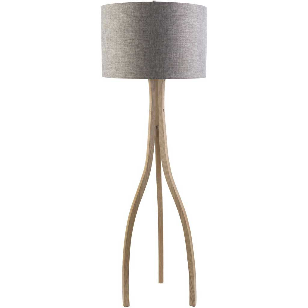 Duxbury Gray Floor Lamp