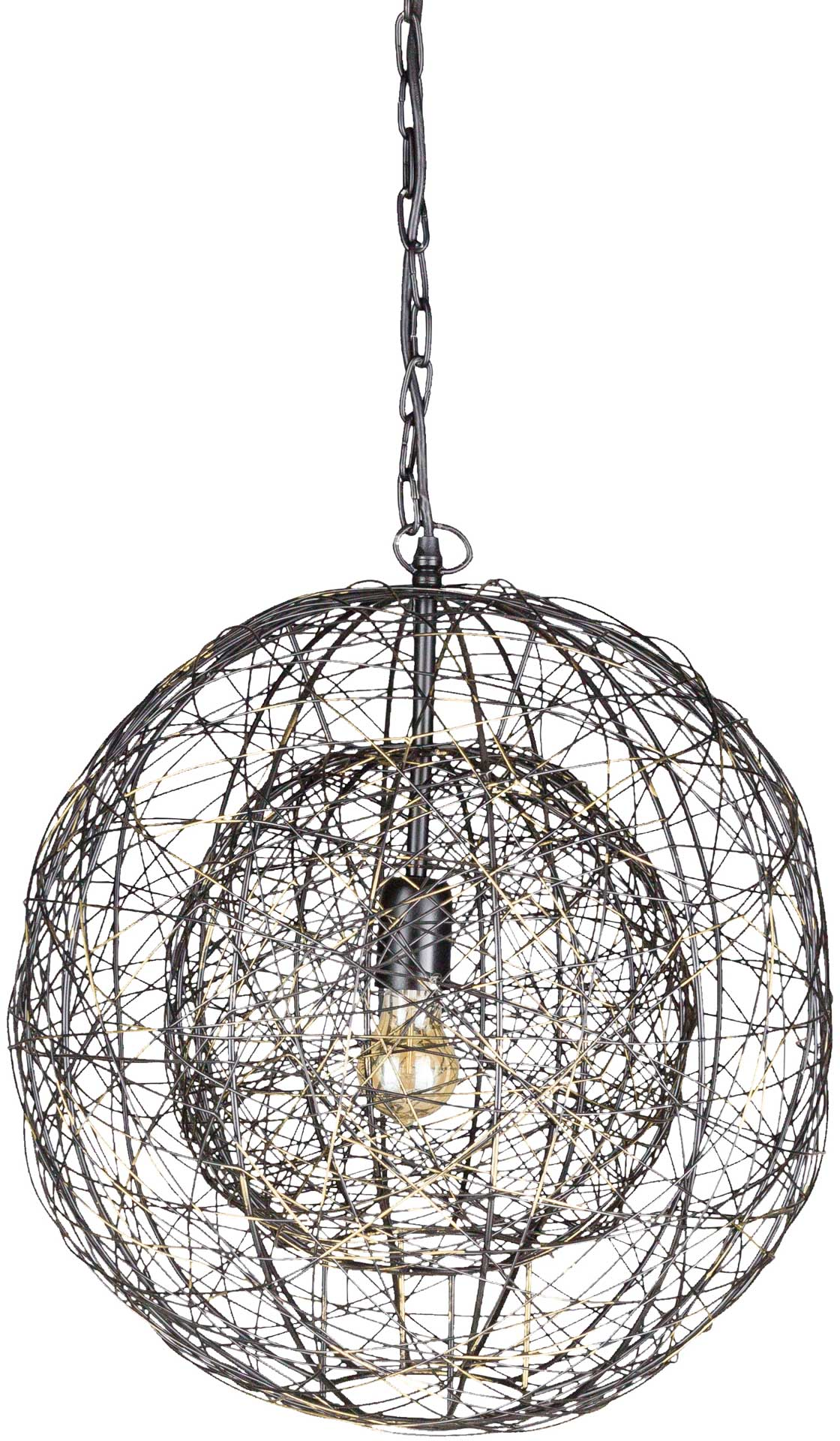 Emberly 2 Concentric Pendant Bronze