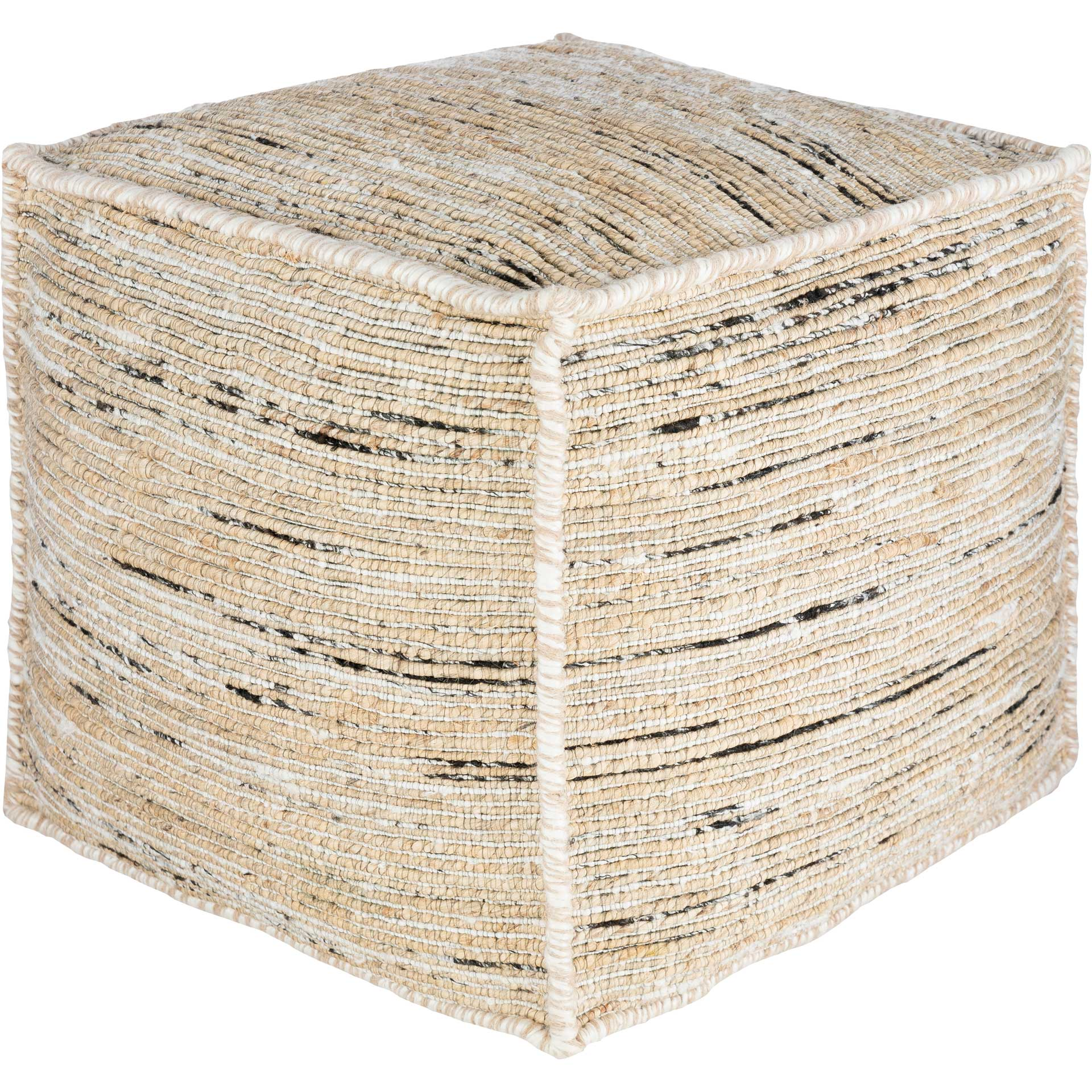 Estella Pouf Butter/White/Black