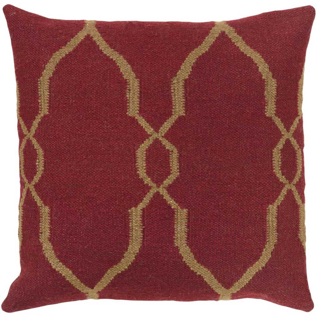 Juxtaposed Geometric Burgundy/Chocolate Pillow